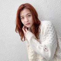 冬可愛い赤髪ミディアムStyle